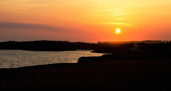 ocean course, kiawah, south carolina, sunset, photo