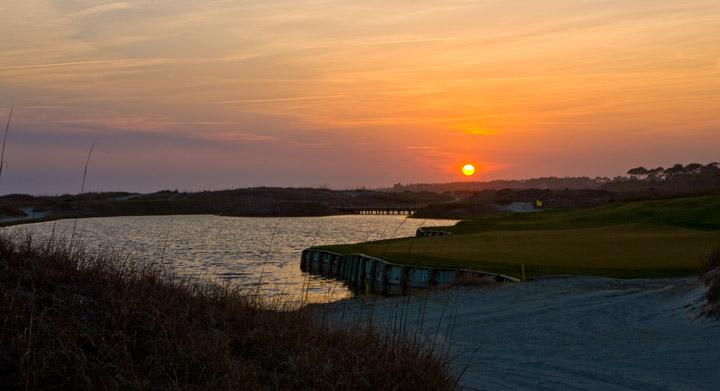 sunset, kiawah, ocean course, south carolina, photo
