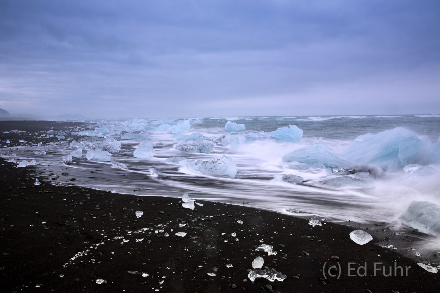 Every day the tide enters and leaves the Jokulsaron Lagoon via a quarter mile inlet, sweeping icebergs into the North Atlantic...