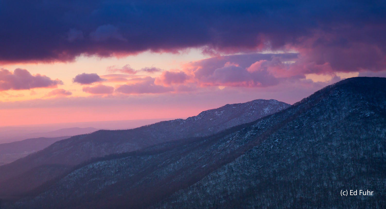 Shenandoah, photograph, skyline drive, winter, snow, thanksgiving, landscape, old rag, sunrise, photo