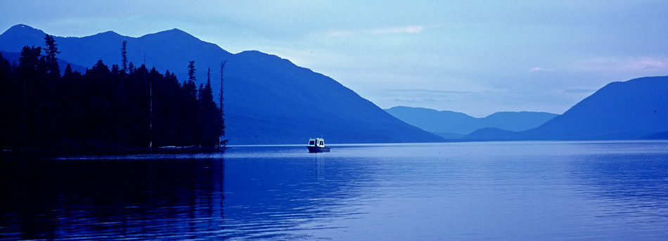 Lake McDonald, boat, glacier, photo