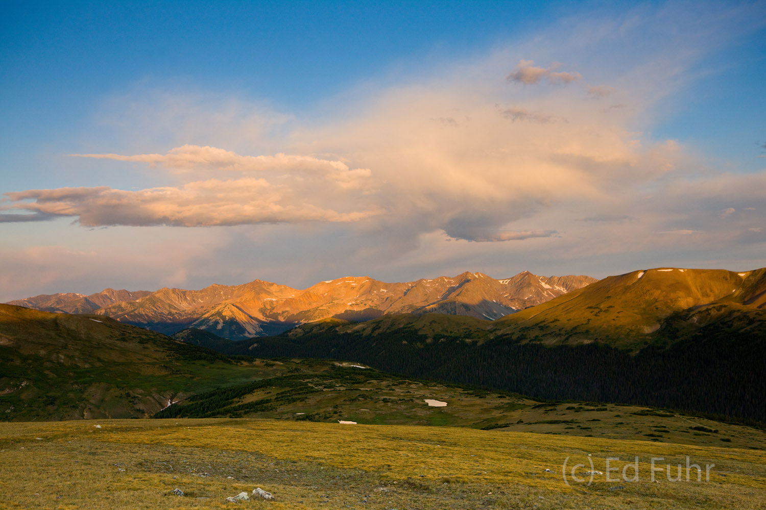 trail ridge road, sunrise, rmnp, rocky mountains, photo