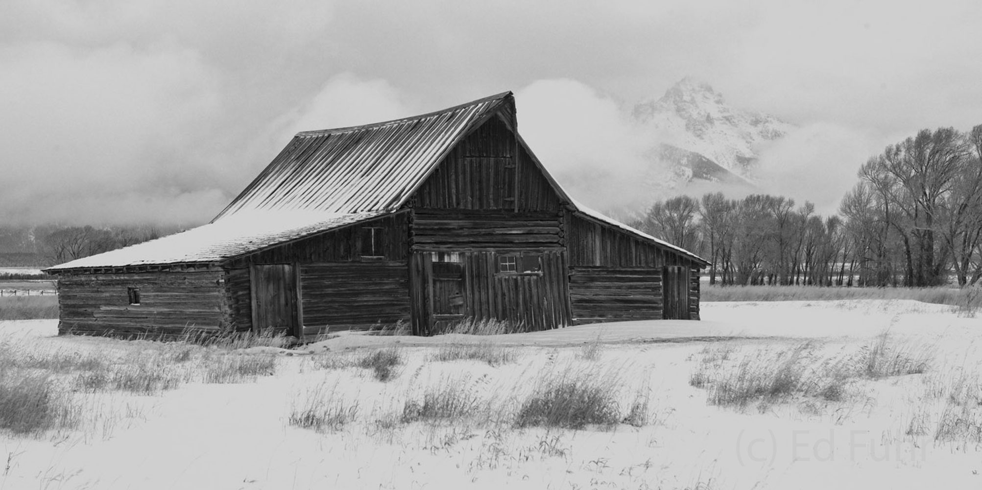 moulton barn, tetons, snow, winter, photo