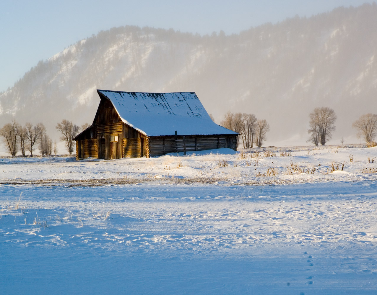 moulton barn, tetons, photo