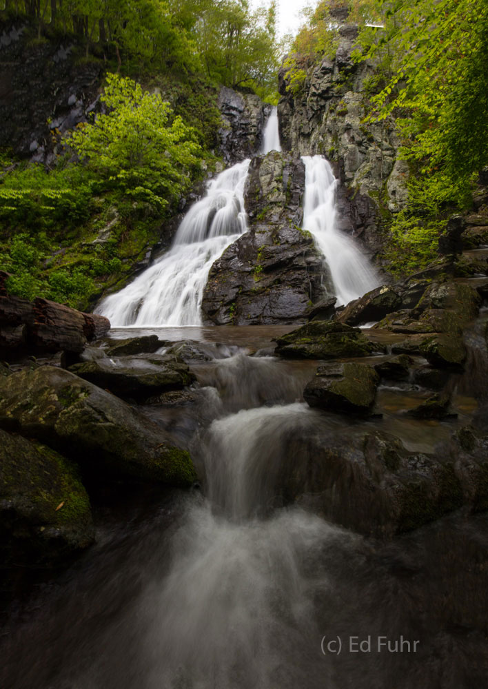 A small cascade drains the basin below South River Falls.