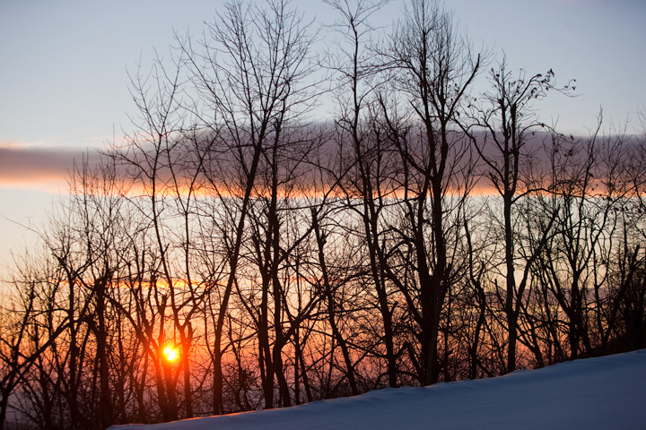 blue ridge parkway, snow, sunrise, virginia, photo