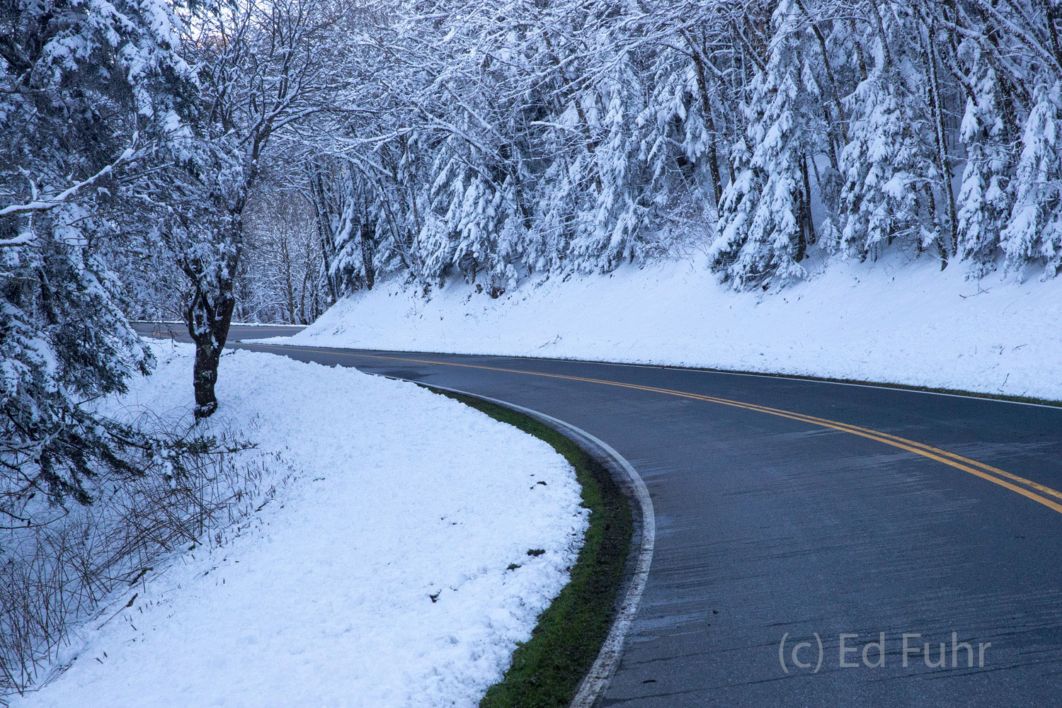 Great smoky mountains, spring, photography, images, snow, road, photo