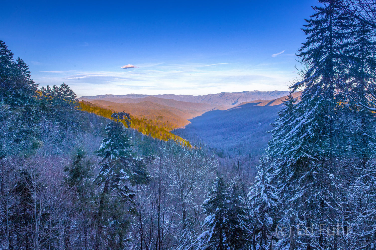 Great smoky mountains, spring, photography, images, snow, newfound gap, photo