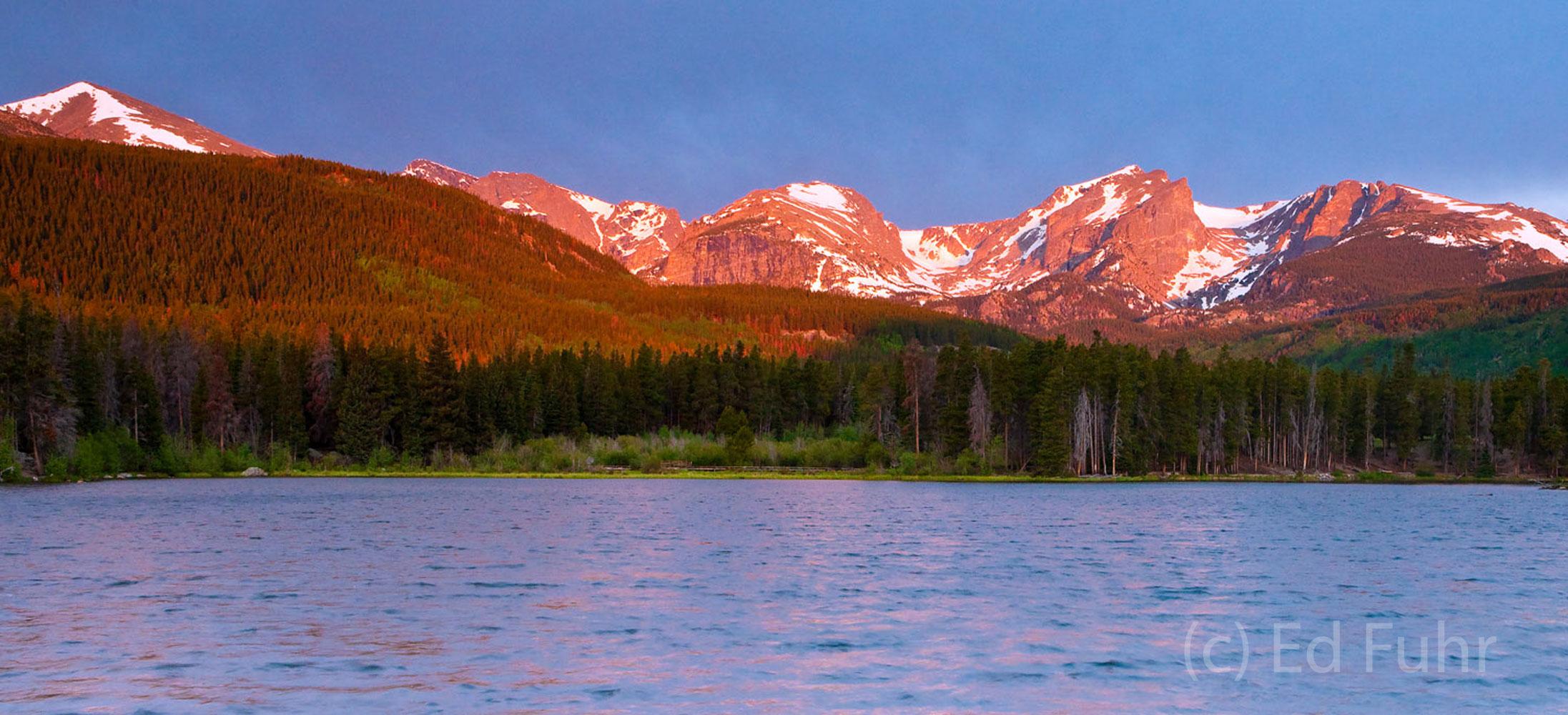 Sprague Lake Sunrise Panorama
