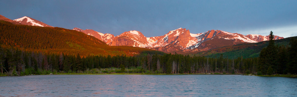 sprague lake, sunrise, snow, rmnp, , photo