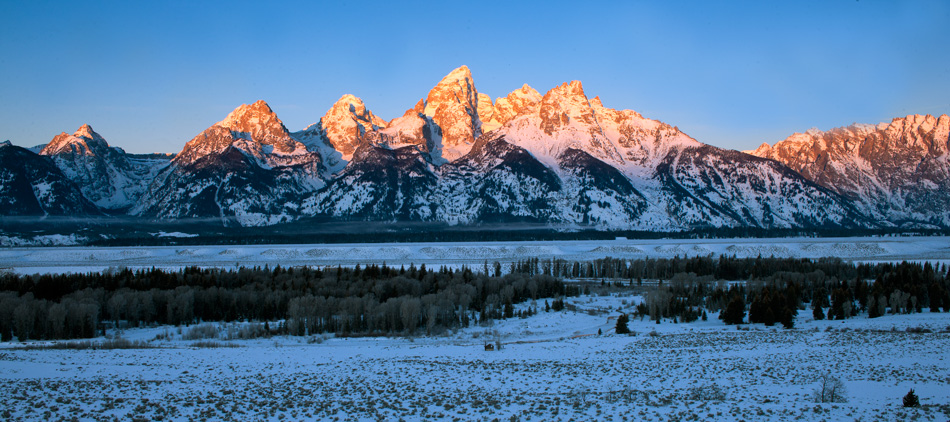 tetons, christmas, dawn, schwabacher landing, photo