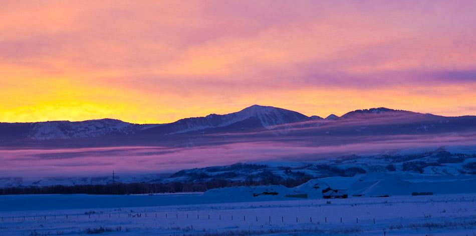 tetons, snow, sunset, photo