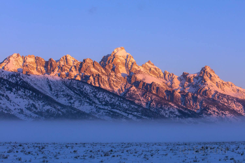 Grand Teton, sunrise, winter, 2016, photograph, photo