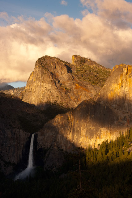bridalveil falls, yosemite, tunnel view, photo