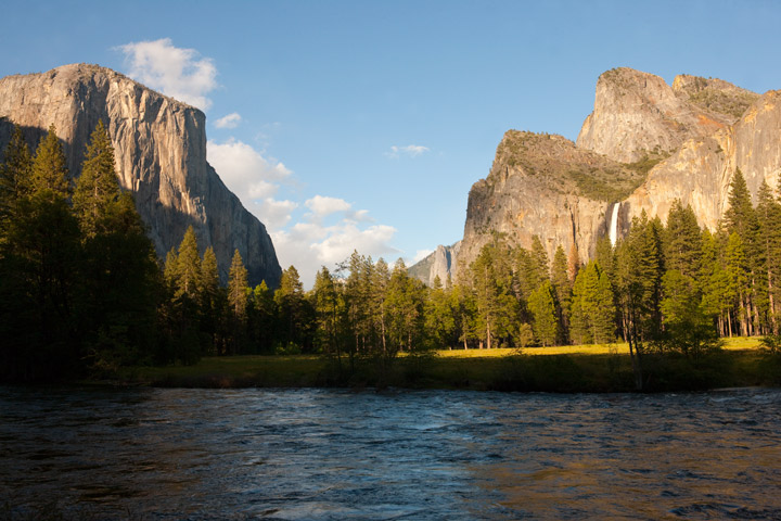 gates of garden, yosemite, bridalveil falls, el capitan, photo