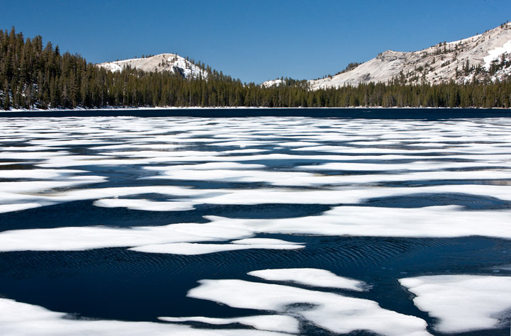 tenaya lake, ice, yosemite, photo