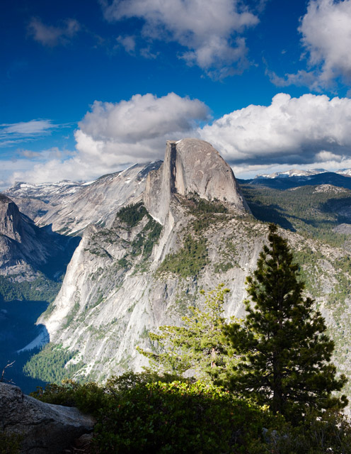 half dome, glacier point, yosemite, photo
