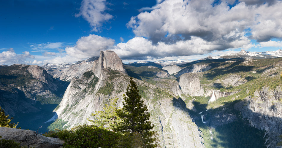 glacier point, yosemite, half dome, panorama, photo