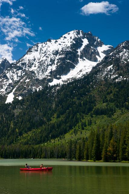 leigh, lake, teton, canoe, photo