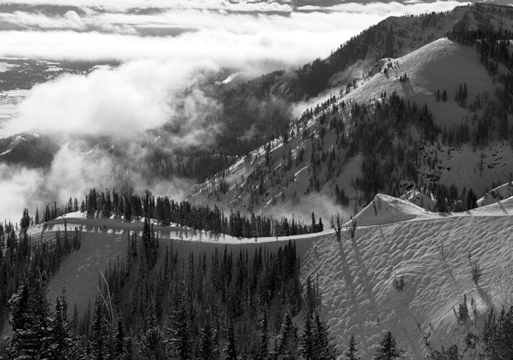ski, photo, jackson hole ski resort, black and white, snow, sublette, photo