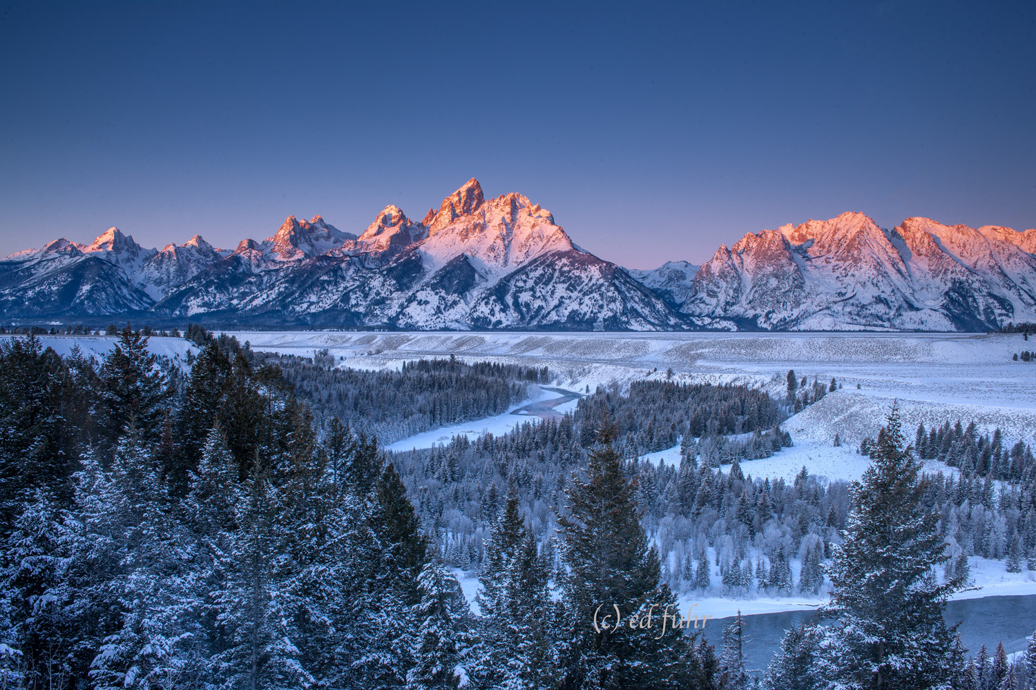 grand teton national park, sunrise, christmas, 2011, Tetons, Grand Teton, photo