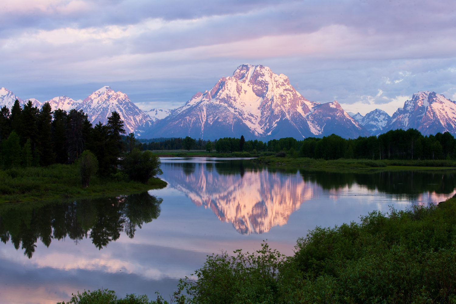 oxbow, bend, teton, mount, moran, photo
