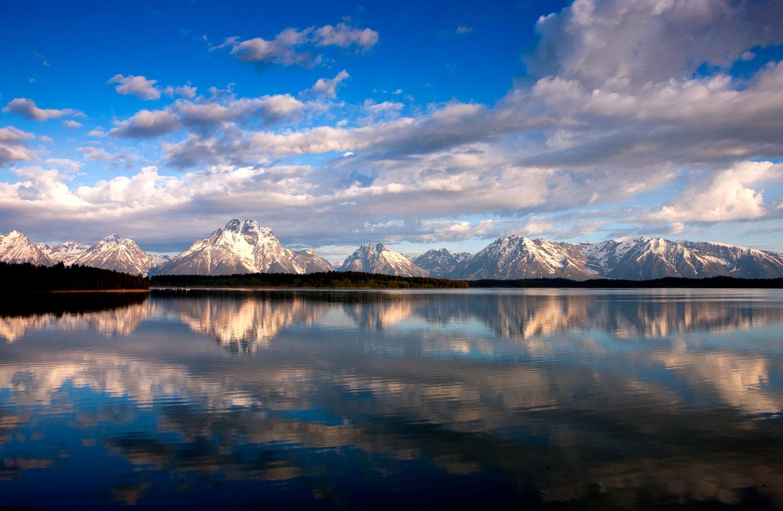 mount, moran, jackson, lake, photo