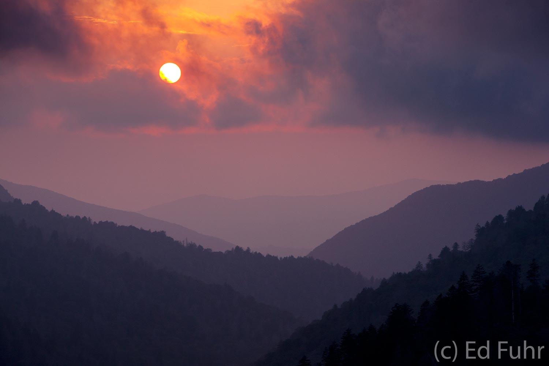 Morton Overlook, sunset, photo