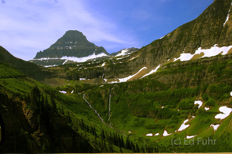 Glacier, mountains,, photo